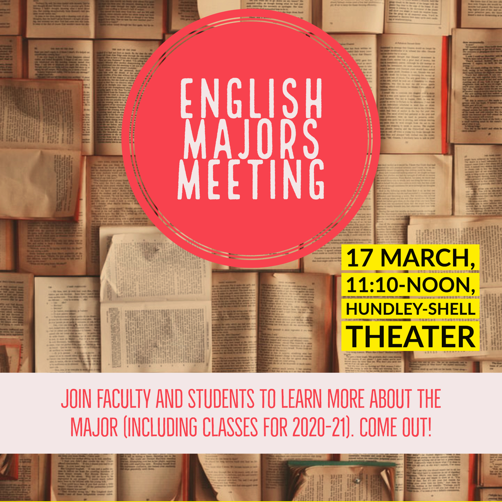 English Majors Meeting flier
